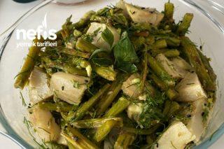 Kuşkonmazlı Avokadolu Enginar Salatası Tarifi