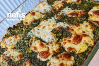 Ispanaklı Börek Tam Diyet İçin Sağlıklı Hamursuz 5 Dakikada Hazırla Tarifi