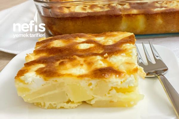 Fırında Peynirli Soslu Patates