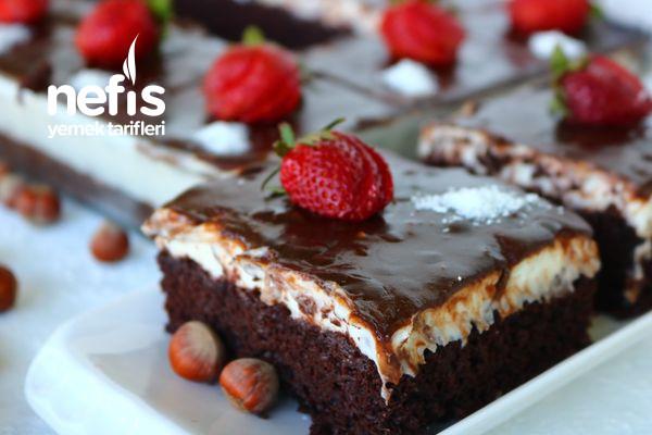 Efsane Çikolatalı-Çilekli Borcam Pastası (Videolu)