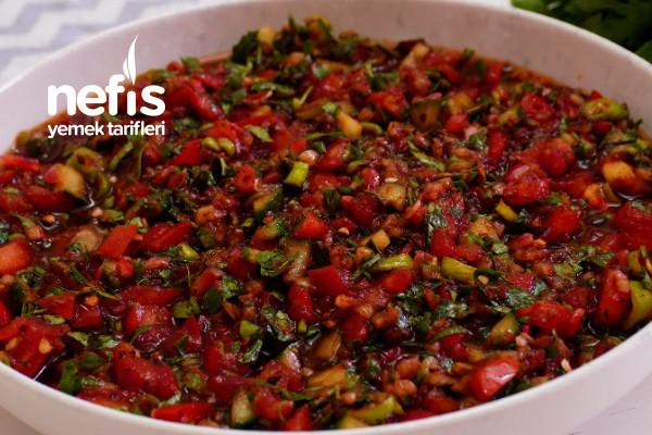 Ustaların Sır Gibi Sakladığı Acılı Ezme Tarifi (Salata Sosu) Soğuk Mezeler Ve Salatalar