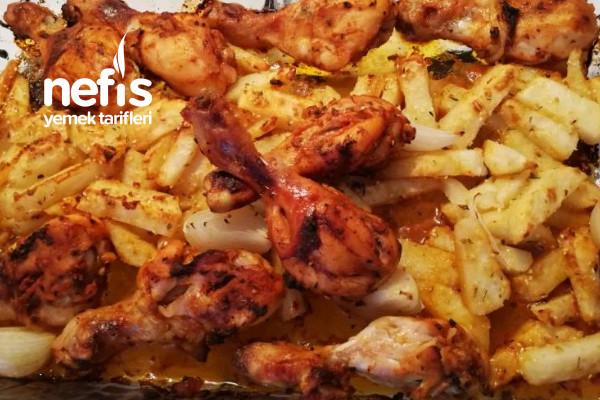 Fırında Susamlı Patatesli Çıtır Tavuk