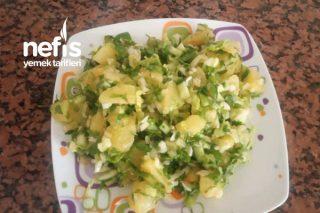 Bol Yeşillikli Patates Salatası Tarifi