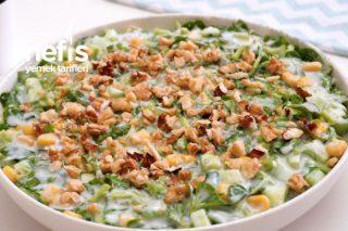 Kaşık Kaşık Yediren Serinleten Salata Tarifi Yoğurtlu Semizotu Salatası Tarifi (Videolu)