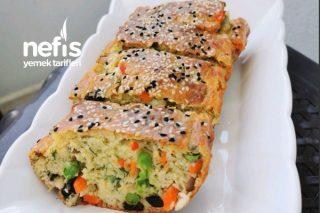 Pratik Sebzeli Kahvaltı Keki (Yumuşacık Tuzlu) Tarifi