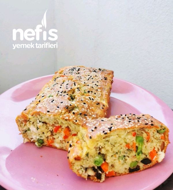 Pratik Sebzeli Kahvaltı Keki (Yumuşacık Tuzlu)