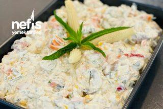 Yoğurtlu Mayonezli Mantar Salatası Tarifi
