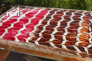Çikolatalı Karamelli Frambuazlı Trileçe Tarifi