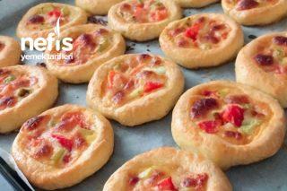 Mayasız Minik Pizzalar Tarifi
