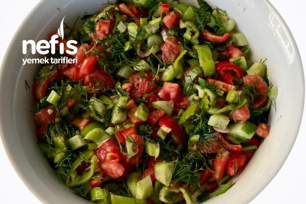 Çoban Salatası (Shepherd Salad) (Videolu)