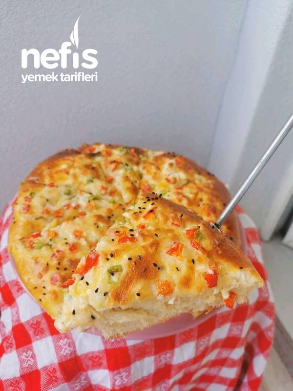 Biberli-Peynirli Kahvaltı Çöreği (Yumuşak Lezzet)