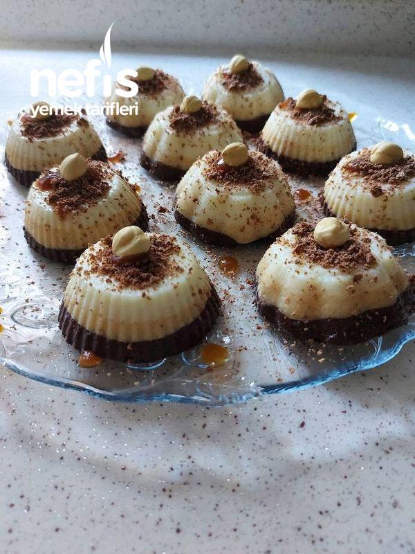 Çikolatalı Karamelli Sütlü İrmik Tatlısı Porsiyonluk