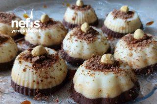 Çikolatalı Karamelli Sütlü İrmik Tatlısı Porsiyonluk Tarifi