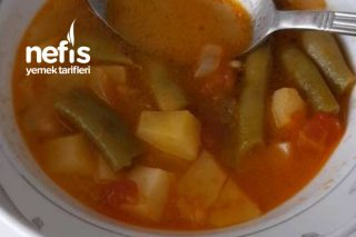 Sulu Fasulye Yemeği (Patatesli) Tarifi