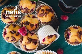 Meyveli Çikolatalı Yumuşacık Nemli Muffin Cake Tarifi