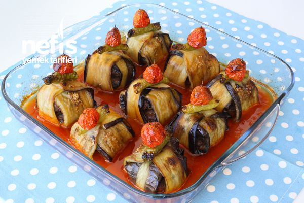Köfteli Patlıcan Bohçası Tarifi (Kürdan Kebabı)-1455-070804