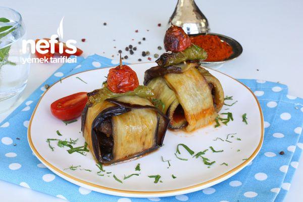 Köfteli Patlıcan Bohçası Tarifi (Kürdan Kebabı)-1455-070828