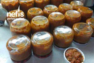 Közlenmiş Patlıcan Ve Közlenmiş Kapya Biber Sosu (Tam Kıvamında) Tarifi