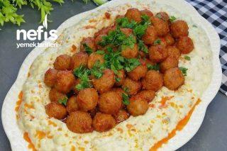 Yoğurtlu Köz Patlıcanlı Bulgur Köftesi Tarifi