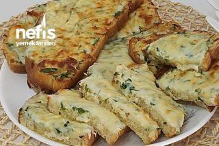 Kahvaltının Yıldızı Fırında Sarımsaklı Ekmek Dilimleri  Muhteşem Tarifi