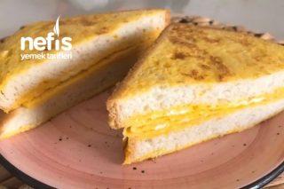 5 Dakikada Omletli Tost (Kahvaltınıza Farklı Ve Bir O Kadar Kolay Bir Tarif) Tarifi