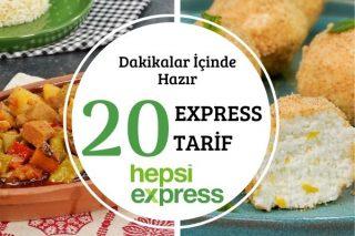 Hepsiexpress'le Lezzetli ve Hızlı 20 Enfes Tarif Tarifi