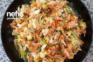 Ton Balıklı Salata (Hardal Ve Mayonezli) Tarifi