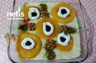Labne Peynirli Sütlü Şeftali Tatlısı Tarifi