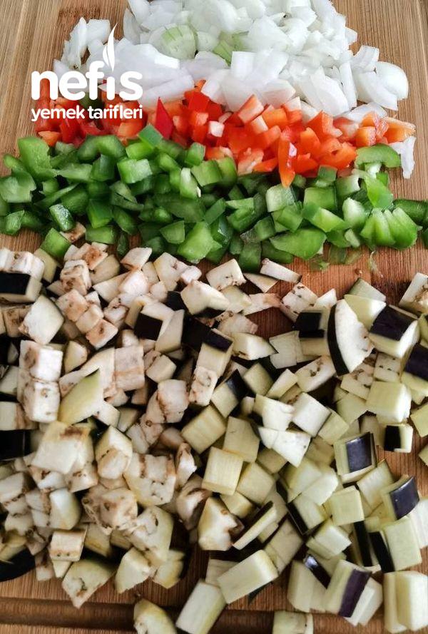Sebzeli Ve Labneli Mantar Dolması