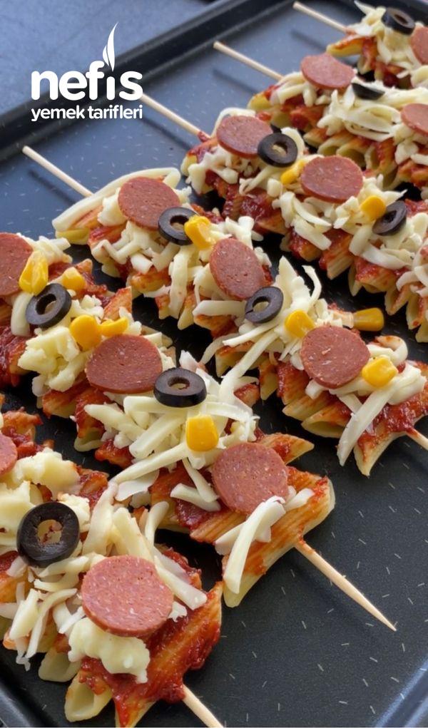 Makarna Pizza (Çocuklar Bayılacak)