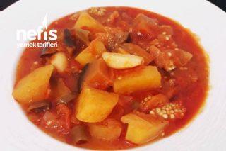 Yaz Yemeklerinden Enfes (Patatesli Patlıcan Yemeği) Tarifi