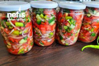 Kışlık Çoban Salatası Konservesi Tarifi (Harika Bir Lezzet) (Videolu)