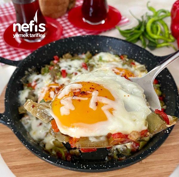 Muhteşem Kahvaltılık Çok Lezzetli Patlıcanlı Yumurta