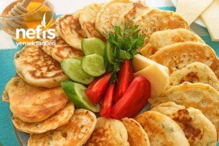 Peynirli Pankek (Kahvaltı Ve Okul İçin Harika Bir Tarif) Tarifi