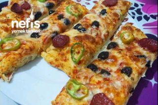 Yumuşacık Hamuruyla Pide Pizza Tarifi
