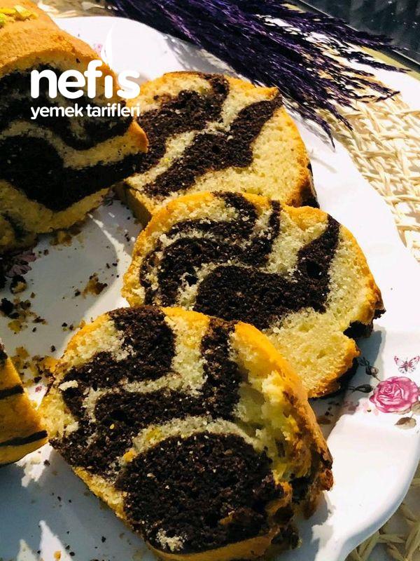 Kek Kalıbında Pamuk Gibi Zebra Kek (Püf Noktaları İle)