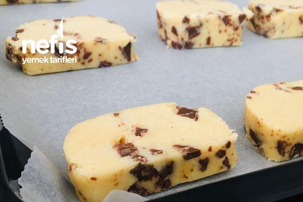 Çikolatalı Buzluk Kurabiyesi (Az Malzeme Çok Lezzet)