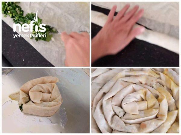 Hazır Yufkayla El Açması Lezzetinde Ispanaklı Kol Böreği