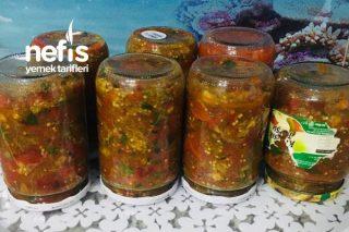 Kışlık Köz Patlıcan Salatası Tarifi