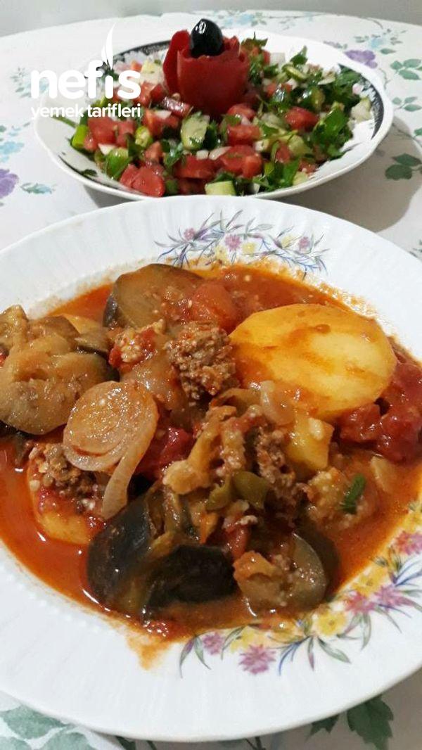 Oturtma Yemeği (Patatesli Patlıcanlı)
