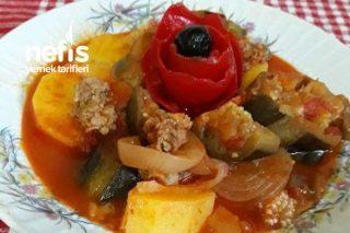 Oturtma Yemeği (Patatesli Patlıcanlı) Tarifi