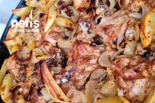 Kişniş Baharatlı Tavuk Patates Soğan Koca Bir Tepsi Tarifi