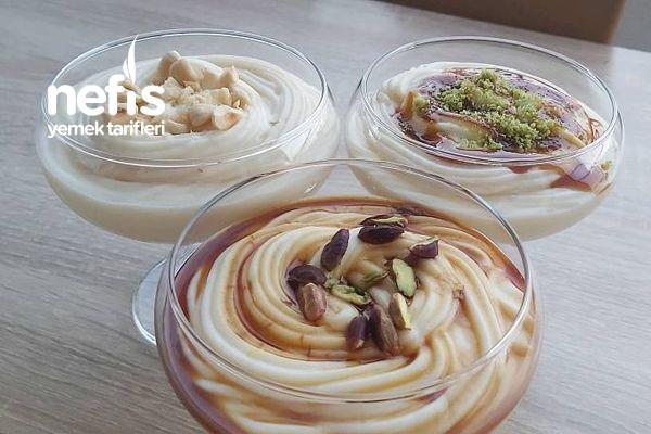 Çok Az Malzemeli Sütlü Tatlı (Videolu)