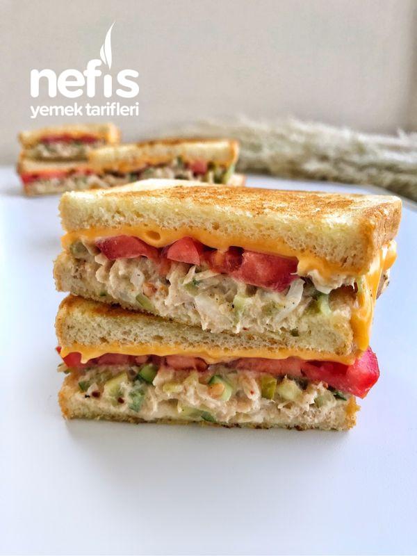 Ton Balıklı Peynirli Sandviç