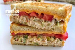 Ton Balıklı Peynirli Sandviç Tarifi