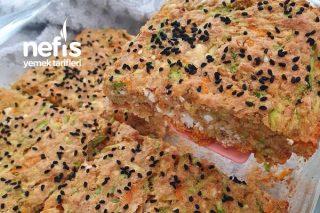 Fırında Peynirli Kabak Mücver Tarifi