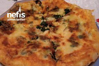En Kolayından Tavada Peynirli Ispanaklı Börek Tarifi