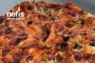 Yufkalı Pratik Pizza Tarifi