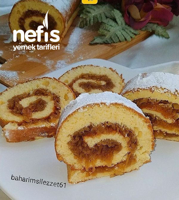 Elmalı Rulo Pasta (Göz Dolduran Lezzet)