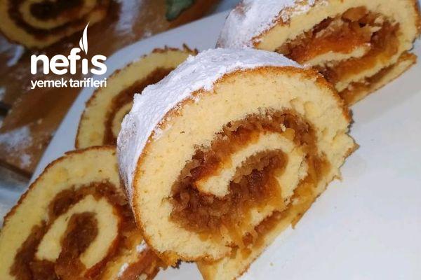 Elmalı Rulo Pasta (Göz Dolduran Lezzet) Tarifi